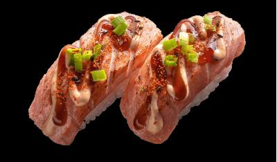 Нигири спайс с лососем 2 шт