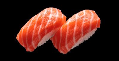 Суши с копченым лососем 2 шт