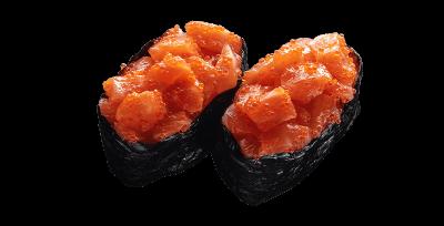 Гункан с лососем копченым 2 шт