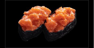 Гункан с лососем 2 шт