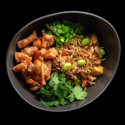 Смажений рис з куркою в соусі кімчі