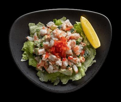 Салат авокадо креветка