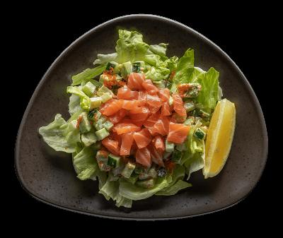 Салат з лососем і авокадо